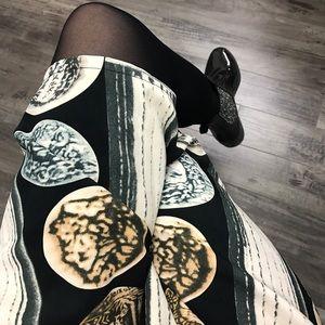 Pattern Art Print Skirt sz 0/S